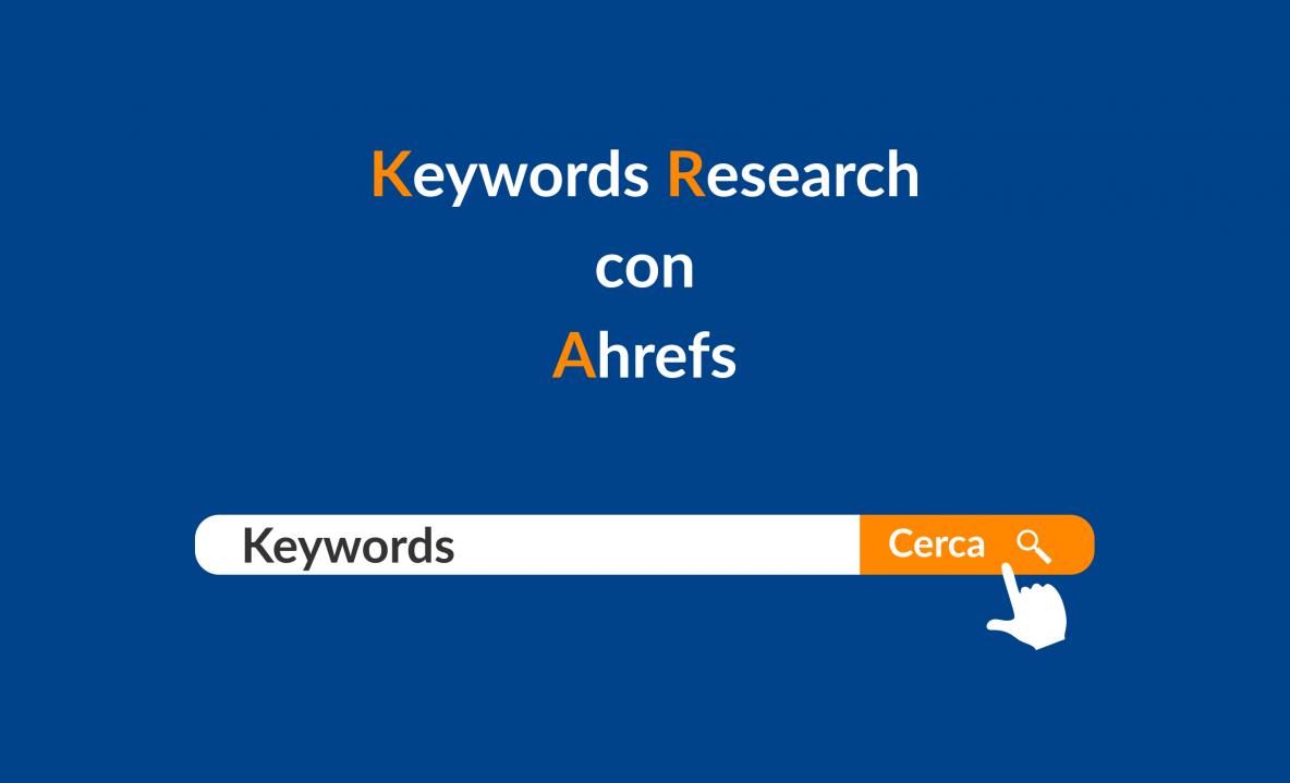 Keyword research con Ahrefs