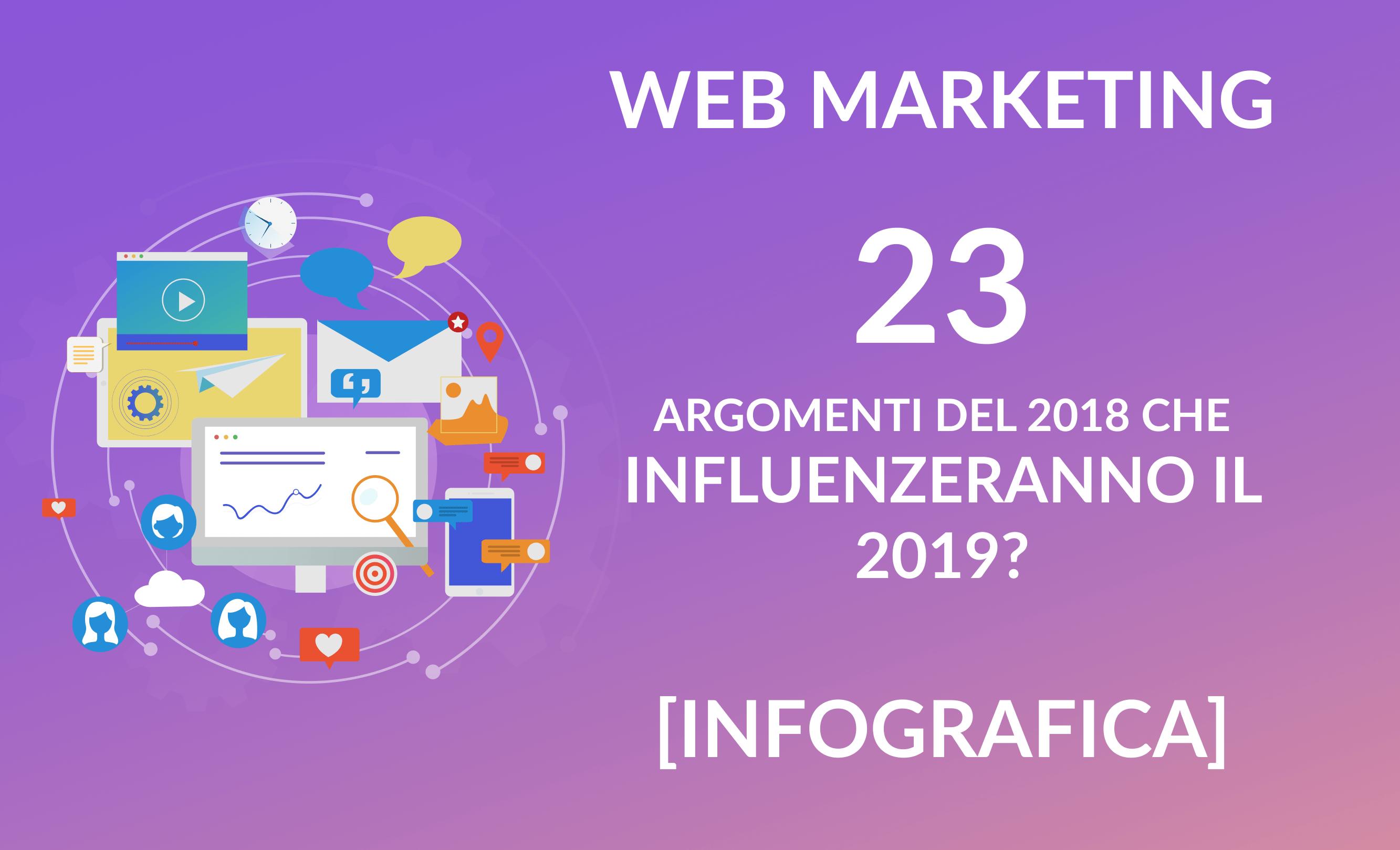 Web marketing - novità 2019