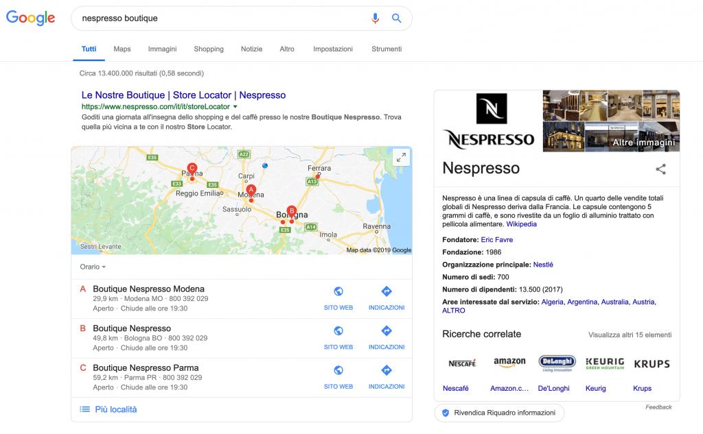Risultati Google Maps