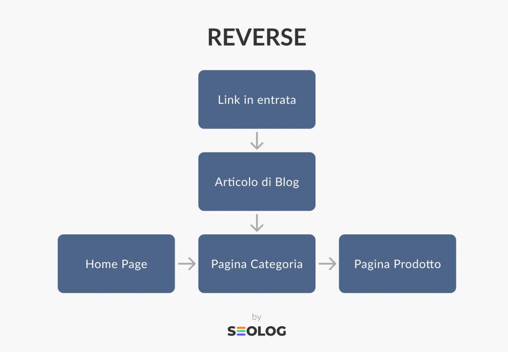 Struttura sito web Reverse