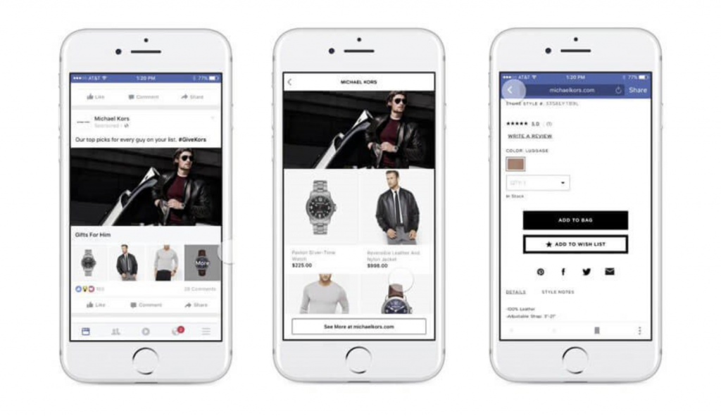 Annunci Facebook Ads - Collezioni