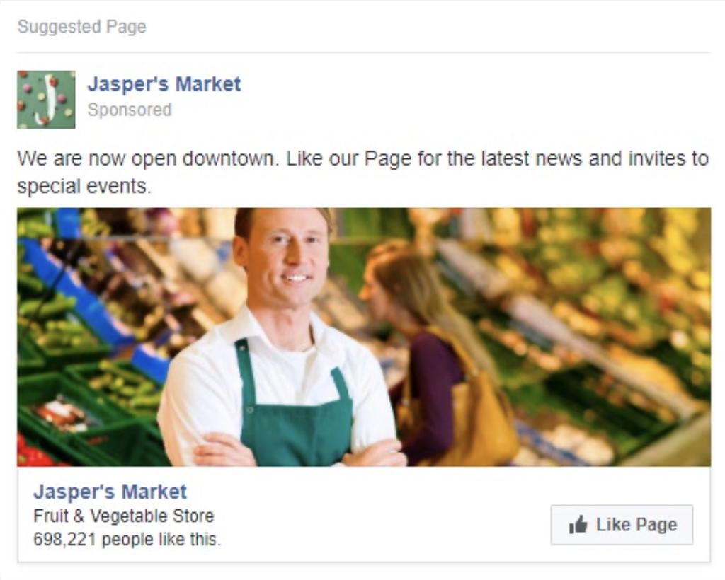 Annunci Facebook Ads per like alla pagina