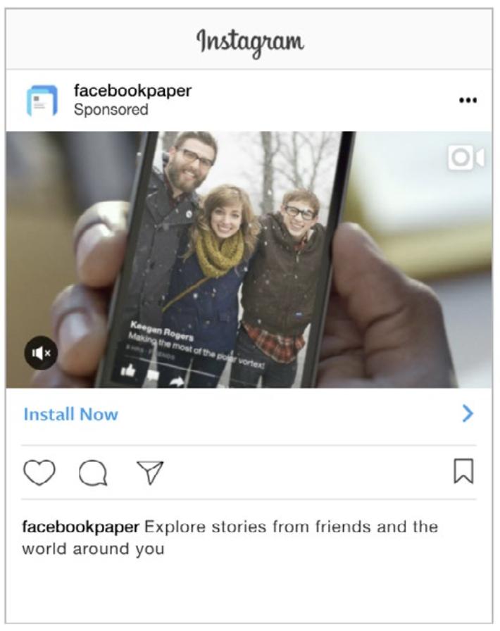 Annunci Facebook Ads per l'installazione dell'app - Instagram
