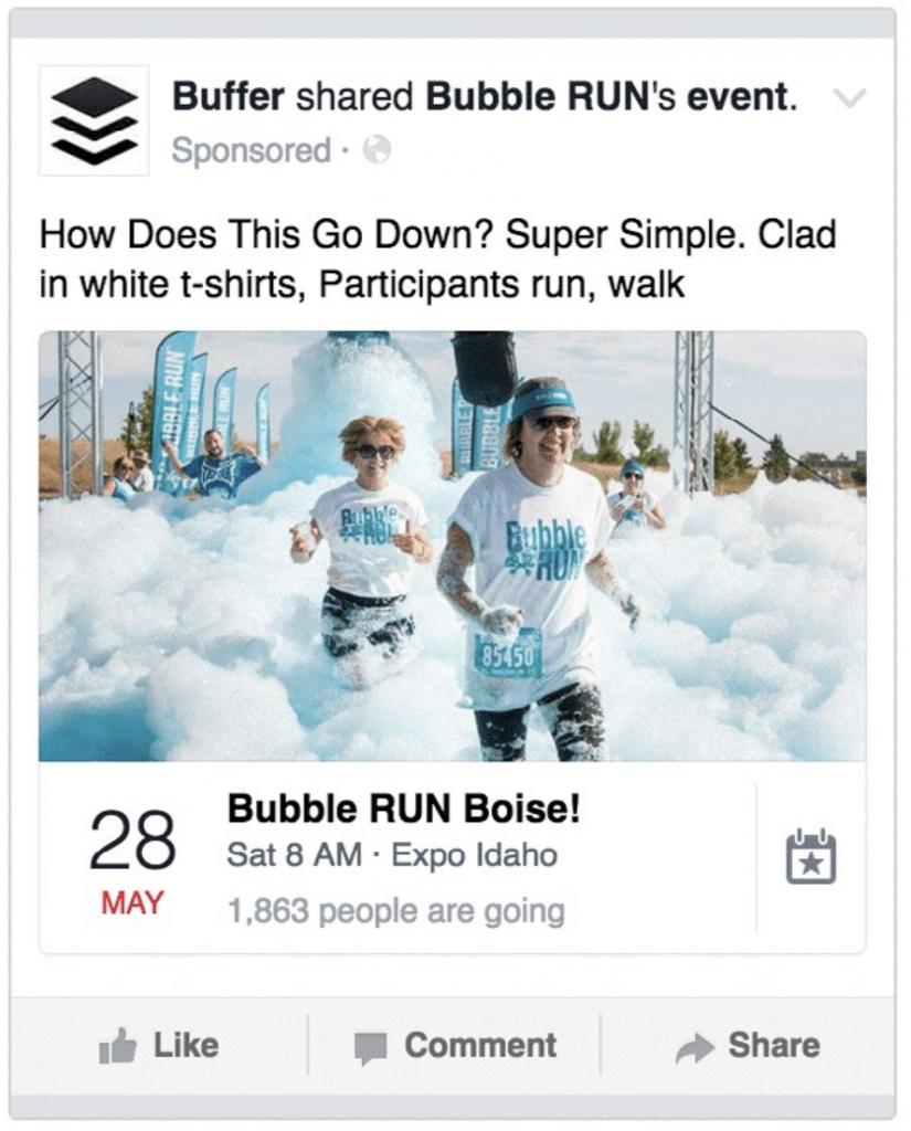 Annunci Facebook Ads per la promozione di Eventi