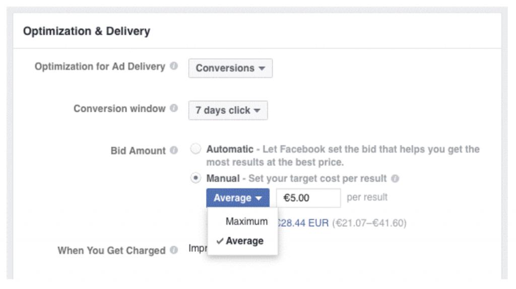Il sistema di offerte di Facebook Ads